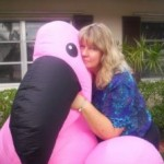Paranormal romance author Bonnie Vanak with a friend