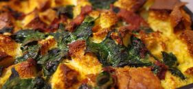 Recipe: Morning After Cheese Ham Strata